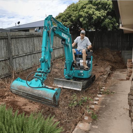 DIY excavating equipment